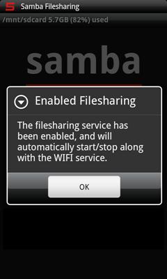 Samba for Android