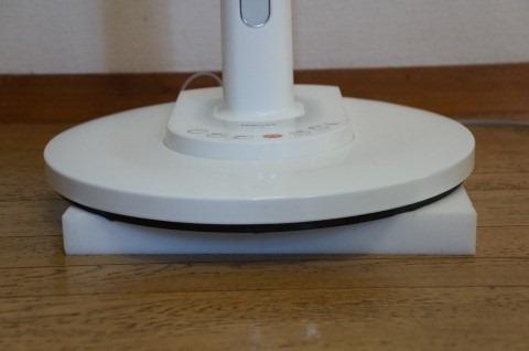 扇風機の下に激落ちくんを防振用に置いた写真3