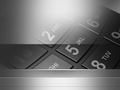Silver and Black Keypad Background