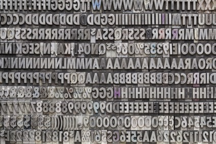 vintage metal letters and numbers